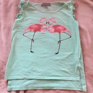Derek heart girl flamingo tshirt